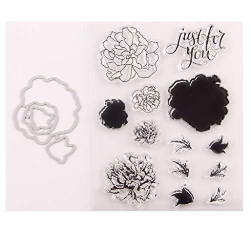 Kanitry - Timbro con fustelle a forma di fiore, per fai da te, scrapbooking, goffratura, album fotografici decorativi, bigliettini fatti a mano - 1