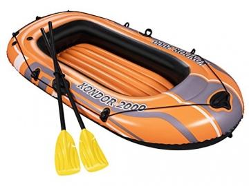 PLAY STORE Bestway 61062 Canotto Gommone Gonfiabile Arancione Hydro Force Kondor 2000 188x98x30cm - 4