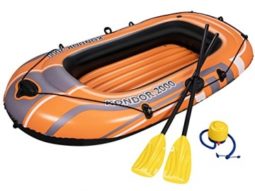 PLAY STORE Bestway 61062 Canotto Gommone Gonfiabile Arancione Hydro Force Kondor 2000 188x98x30cm - 1