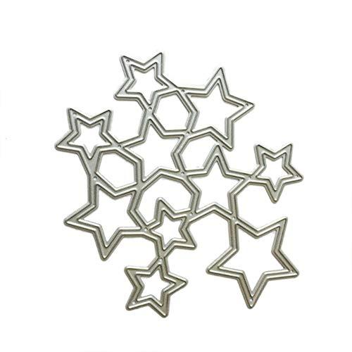 RIsxffp - Fustelle in Metallo per Stencil Fai da Te, Scrapbooking, goffratura, Carta, Biglietti, Album Argento - 1