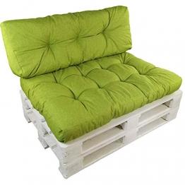 SunDeluxe Cuscini per divani Pallet 'Premium' - Cuscini per Sedile o Schienale per Pallet (Non È Un Set!) - Resistenti a Macchie d'Acqua e Raggi UV, Variante:1x Cuscino di Seduta, Farbe:Verde - 1