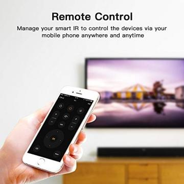 Telecomando IR Smart, Smart Home Automation, Panamalar wireless WiFi controllo IR universale Hub compatibile con Google e ALEXA Home per Apple smartphone Android ... (IR001) - 2