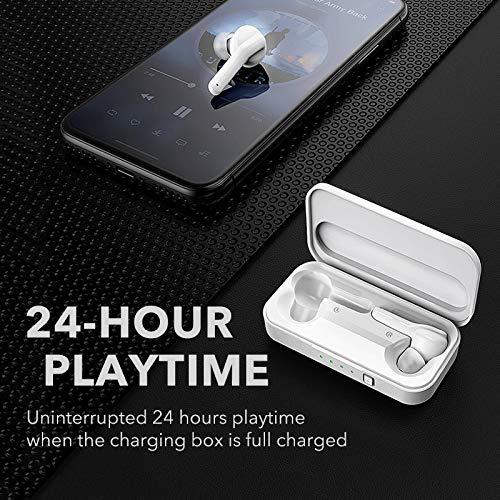 Zlywj Auricolari Bluetooth Mifa X3 Cuffie TWS Auricolari Wireless Bluetooth 5.0 Cuffia Deep True Wireles Stereo Auricolare con Chiamata Vivavoce Microfono Bianco - 1
