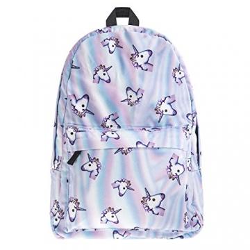 borsa unicorno, Kfnire 3D unicorno stampa multi color arcobaleno unicorno zaino, borsa college scolastica per studenti adolescenti (unicorno) - 8