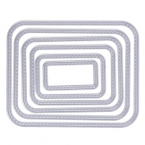 Demiawaking 6pcs Montatura Stencil per DIY Scrapbooking Album Segnalibro Goffratura Taglio di Modello Embossing Artigianale Carta Stampi (10) - 1