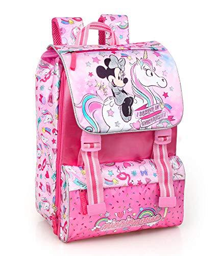 Disney Minnie Unicorno 36212 Zaino da Scuola, Estensibile, Poliestere, Multicolore - 1