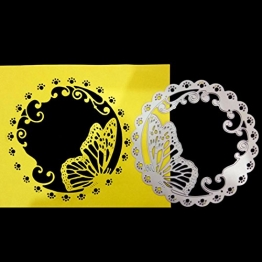 FNKDOR Fustelle per Scrapbooking Carta Cutting Dies DIY Metallo Fustella Stencil Album Foto, Accessori per Big Shot e altre macchina (F) - 1