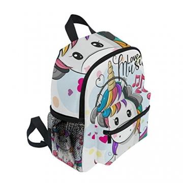ISAOA Zaino per bambini asilo nido scuola materna per ragazzi/ragazze, Lovely Bookbag Zaini per età 2-8 anni bambino (Unicorno bianco) - 2