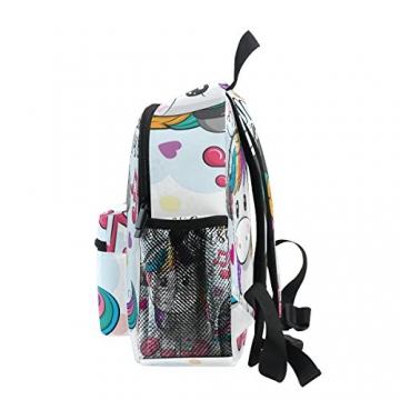 ISAOA Zaino per bambini asilo nido scuola materna per ragazzi/ragazze, Lovely Bookbag Zaini per età 2-8 anni bambino (Unicorno bianco) - 4