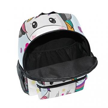 ISAOA Zaino per bambini asilo nido scuola materna per ragazzi/ragazze, Lovely Bookbag Zaini per età 2-8 anni bambino (Unicorno bianco) - 5
