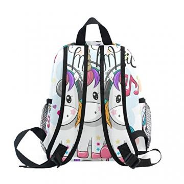 ISAOA Zaino per bambini asilo nido scuola materna per ragazzi/ragazze, Lovely Bookbag Zaini per età 2-8 anni bambino (Unicorno bianco) - 6