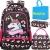 Meisohua Unicorno Zaino Scuola Elementare Impermeabile Zaini Bambino Sacchetti di Scuola Per Ragazze leggero campeggio borse casual Daypacks per adolescenti studenti 3 pezzi Rosa - 1