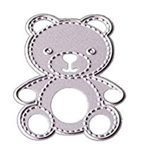 Naisicatar fai da te Little Bear Forma Metallo fustelle Stampini Scrapbooking Album utensili per l'imbutitura e decorazioni - 1