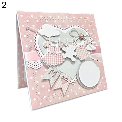 P12cheng Fustelle Metallo Stencil,Cutting Dies,Vestiti del Bambino Die Tagli, Scrapbooking DIY Paper Cards Stencil - 2# - 1