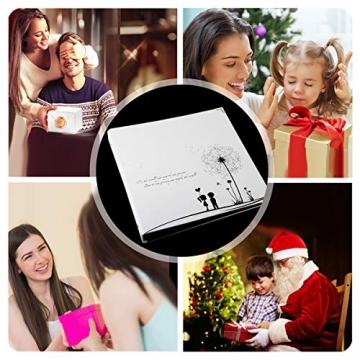 ThxMadam Scrapbooking Foto Album retrò Memoria Libro degli Ospiti di Nozze con 50 Pagine Nere per San Valentino Giorno Anniversario Compleanno Natale Regalo per Figlia Moglie Madre,Dente di Leone A - 5