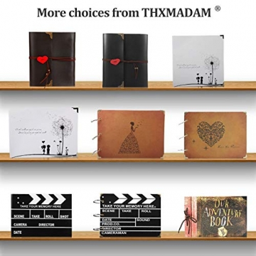 ThxMadam Scrapbooking Foto Album retrò Memoria Libro degli Ospiti di Nozze con 50 Pagine Nere per San Valentino Giorno Anniversario Compleanno Natale Regalo per Figlia Moglie Madre,Dente di Leone A - 9