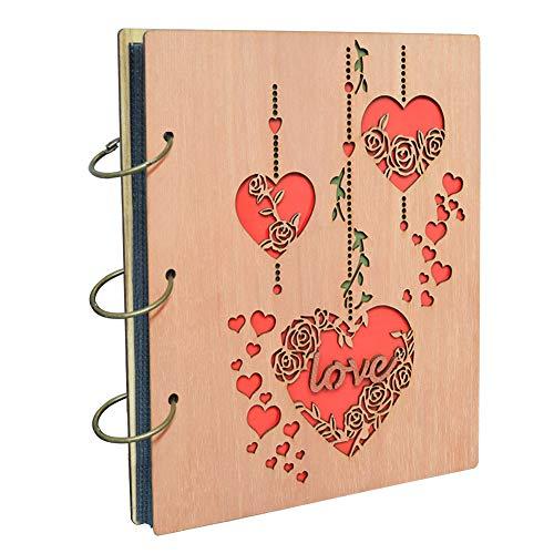 """Umi. Essentials album fotografico, design """"Love"""", con tasche 13 x 18, capacità 120 foto - 1"""
