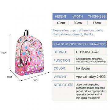 WAWJ Store Unicorno Zaino 2019 Scuola Borse Leggero per Bambini Zaino Casual per Ragazzi Adolescenti Ragazze (Rosa) - 3