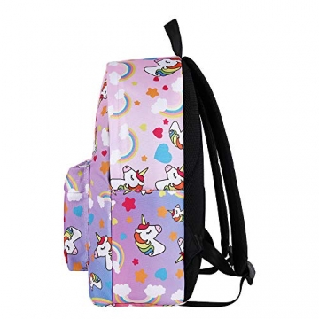 WAWJ Store Unicorno Zaino 2019 Scuola Borse Leggero per Bambini Zaino Casual per Ragazzi Adolescenti Ragazze (Rosa) - 6