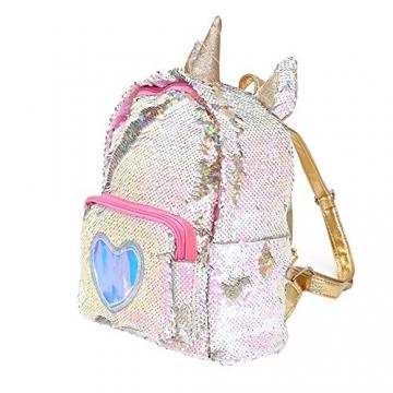 Zaino paillettes, paillettes zaino unicorno zaino carino trendy per bambini scuola scuola zaino ragazza zaino ragazza carina (2) - 3