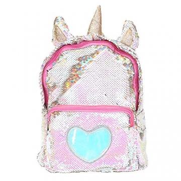 Zaino paillettes, paillettes zaino unicorno zaino carino trendy per bambini scuola scuola zaino ragazza zaino ragazza carina (2) - 1
