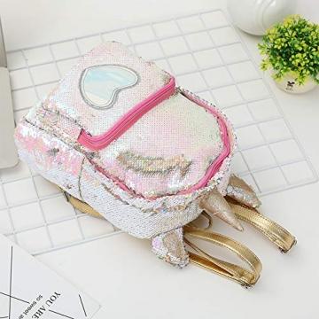 Zaino paillettes, paillettes zaino unicorno zaino carino trendy per bambini scuola scuola zaino ragazza zaino ragazza carina (2) - 6