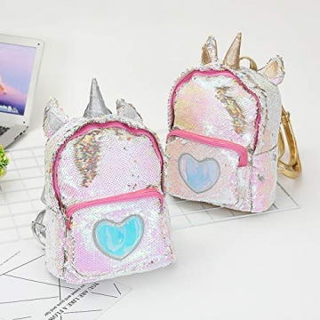 Zaino paillettes, paillettes zaino unicorno zaino carino trendy per bambini scuola scuola zaino ragazza zaino ragazza carina (2) - 7