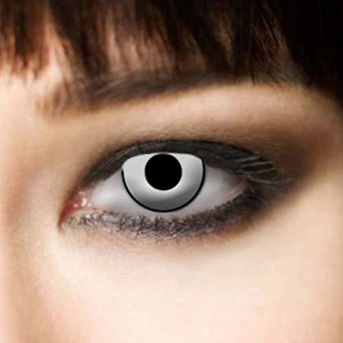 1 coppia,3 mesi, morbide, Halloween lenti a contatto, bianco Manson, vampiri, zombie, - 1