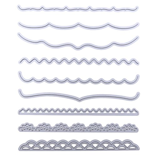 9 Pezzi Stile Linea Acciaio al Carbonio Goffratura Fustelle Muffa dei Modelli Degli Stampini di Taglio, per Album di Carta Scrapbooking Fai Da Te - 1