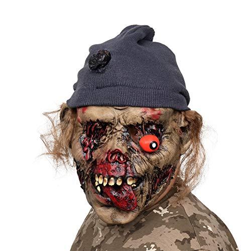AivaToba novità Latex Creepy Horror Head Maschere Faccia Paura per la Festa in Costume di Halloween - 1