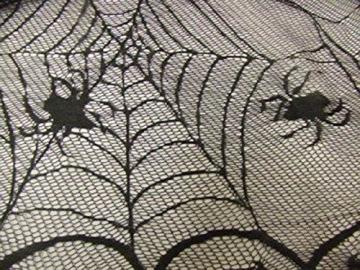 Awtlife tovaglia in pizzo in stile tela di ragno, gotica, per decorazioni di Halloween, 122 x 244 cm - 5