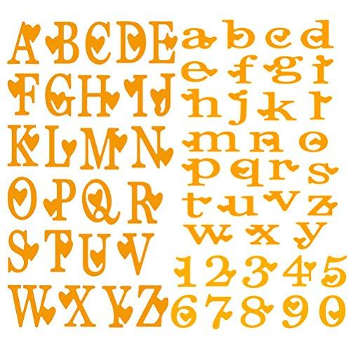 CCCYMM 3 pz Alfabeto minuscole/Lettere maiuscole con Numeri, Stencil per Realizzare Biglietti, Scrapbooking, Album fotografici, goffratura Fai da Te - 1