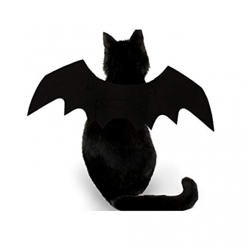 Crewell Halloween Costume halloween gatto per Animale domestico Cane Gatto,ali pipistrello Costume da pipistrello,cosplay gatto - 3