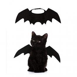 Crewell Halloween Costume halloween gatto per Animale domestico Cane Gatto,ali pipistrello Costume da pipistrello,cosplay gatto - 1