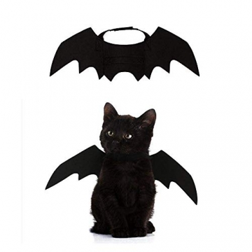 Crewell Halloween Costume halloween gatto per Animale domestico Cane Gatto,ali pipistrello Costume da pipistrello,cosplay gatto - 1