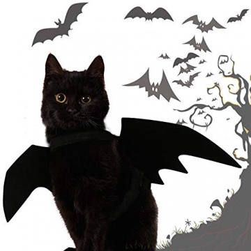 Crewell Halloween Costume halloween gatto per Animale domestico Cane Gatto,ali pipistrello Costume da pipistrello,cosplay gatto - 5