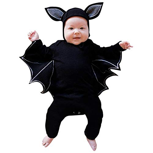 Culater 2018 Halloween Costume Cosplay per Bambina Pagliaccetto Cappello Abiti Clothes (18-24 Mesi, Nero 1) - 1