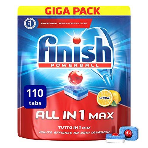 Finish All in 1 Max Pastiglie Lavastoviglie, Limone, 110 Capsule - 1