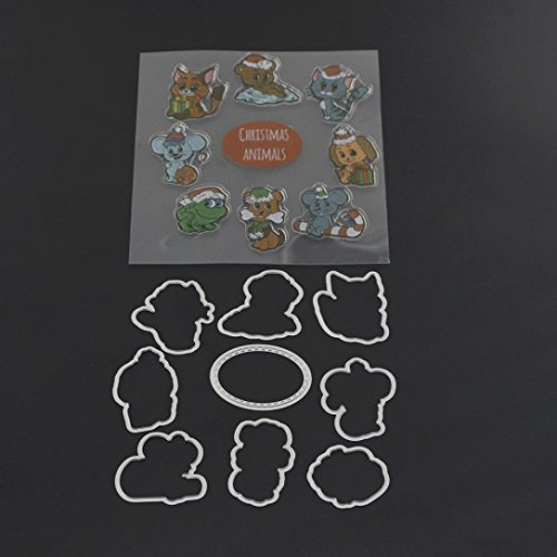 Fustellatrice Fustelle e Timbro, FNKDOR Metallo Fustella Stencil Scrapbooking DIY Album Foto, Accessori per Big Shot e altre macchina (M) - 1