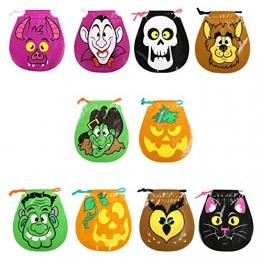 GWHOLE Confezione da 50 Sacchetto per la Decorazione di Stoccaggio di Halloween Regalo Candy Bag Halloween Borse Goody con Cordoncino - 1