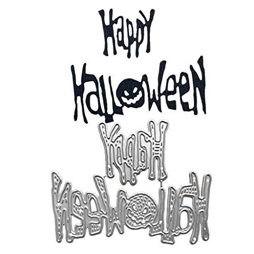 Happy Halloween Fustelle Stencil DIY Scrapbooking Album timbro carta goffrata. - 1