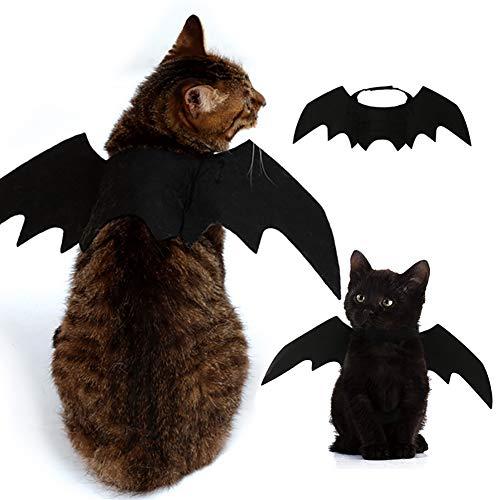 Iris Sprite Costumi di Halloween Pet ali di pipistrello per animali cani gatti decorazioni di Halloween Cappello di zucca Cappello di ragno Cappello di Corno (Ali di pipistrello) - 1