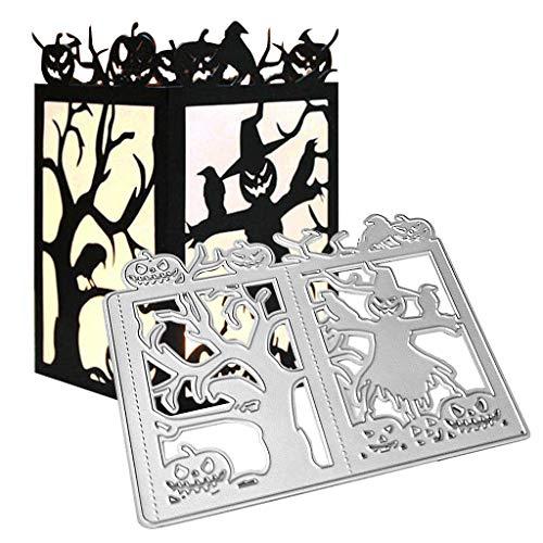 Lisanl - Fustelle in metallo a forma di zucca di Halloween, per fai da te, scrapbooking, album, biglietti, goffratura - 1