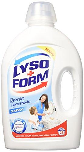 Lysoform Detersivo Igienizzante per Bucato, Detersivo Classico 25 Lavaggi X2 - 1