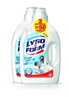 Lysoform Detersivo Igienizzante per Bucato, Detersivo Classico, Confezione da 2 x 25 Lavaggi - 1