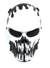 Maschera Protettiva CS Halloween Airsoft Paintball Maschera Scheletrica Del Cranio Pieno - 1