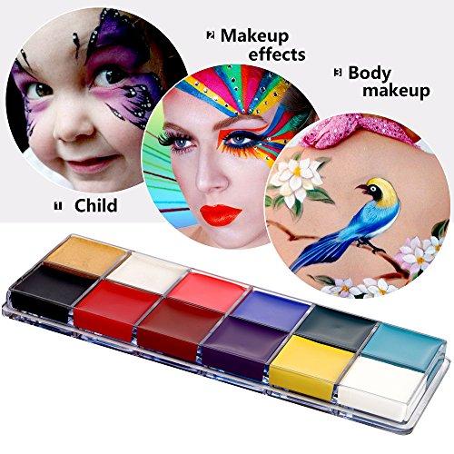 Mermaid, 12 colori per il bodypainting, colori per il corpo e il viso, per Halloween, Carnevale e trucco per recite in maschera - 1