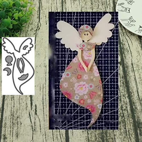 Obrid#e5on La Fata dell'angelo, Il Taglio dei Metalli, Muore Scrapbooking Fai-da-Te con Carte di Carta in Rilievo, Foto Artigianale, Argento - 1