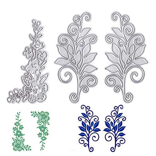 OOTSR (3 Pezzi Fiore Taglio Muore, Metallo Stencil di taglioper Scrapbooking/Goffratura/Album Fotografico Decor/Fai da Te/Regalo - 1
