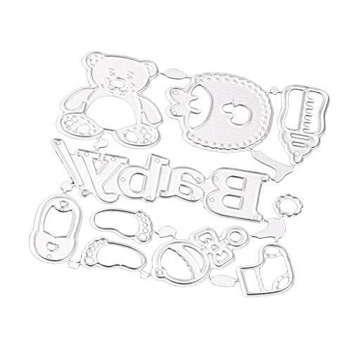 Perfeclan Accessori Per Bambini Metallo Scrapbooking Fustelle Stencil Fai Da Te - 1